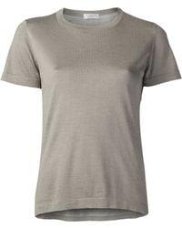 Brunello Cucinelli Embellished Side Tshirt - Lyst