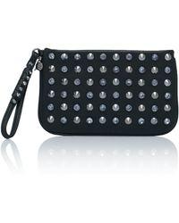 Patrizia Pepe Clutch Bag With Studs - Lyst