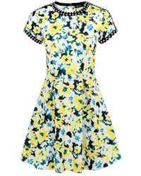 9bbec43f8b Juicy Couture - Ronan Floral Scuba Dress - Lyst