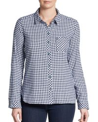 C&C California Brushed Flannel Checked Shirt - Lyst