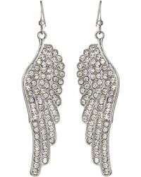 Kenneth Jay Lane Pave Crystal Wing Earrings - Lyst