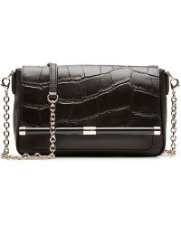 Diane von Furstenberg Mini Embossed Leather Shoulder Bag - Lyst