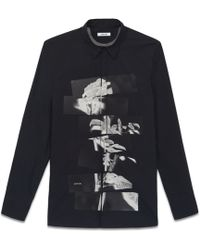 Helmut Lang Segmented Rose Print Shirt - Lyst