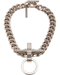 Givenchy Silver Obsedia Necklace - Lyst