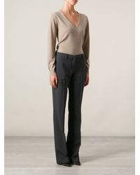 Theyskens' Theory Vneck Fine Sweater - Lyst