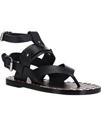 Isabel Marant Studded Justy Sandals - Lyst