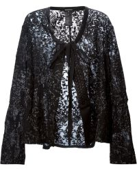 Ann Demeulemeester Embroidered Jacket - Lyst