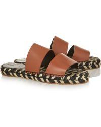 Proenza Schouler Leather Espadrille Slides - Lyst
