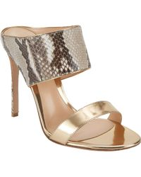Gianvito Rossi Diane Double Band Mules - Lyst
