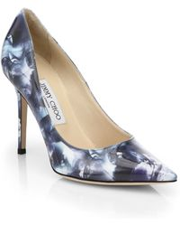 Jimmy Choo Abel Printed Patent Leather Pumps - Lyst