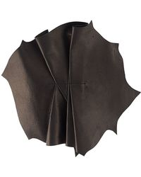 Vionnet | Pleated Leather Brooch | Lyst