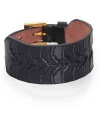 Alexander McQueen Rib Cage Leather Cuff - Lyst