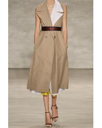 TOME Sleeveless Cotton-Blend Twill Trench Coat - Lyst