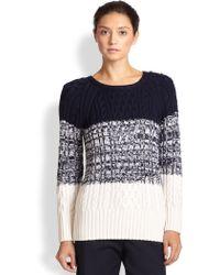 St. John Marled Colorblock Sweater - Lyst