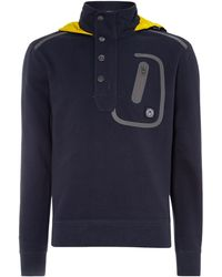 Duck And Cover Clegane Technical Pique Half Placket Hoody - Lyst
