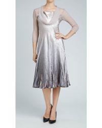 Komarov Drape Cowl Neck Dress - Lyst