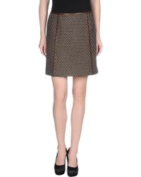 Prada Knee Length Skirt brown - Lyst