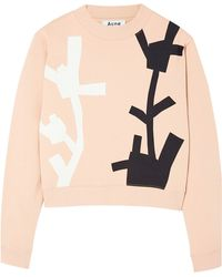 Acne Studios Bird Flower Print Sweat - Lyst
