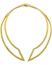 Vince Camuto Goldtone Sculpted Collar Necklace - Lyst