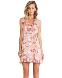 Anna Sui Poppies Print Wrap Dress - Lyst