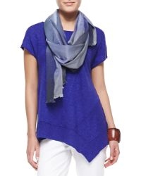 Eileen Fisher Hazy Color-shift Plaid Scarf - Lyst
