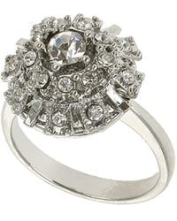 Topshop Rhinestone Dome Ring - Lyst