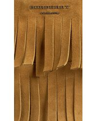 Burberry - Fringe Detail Suede Document Case - Lyst