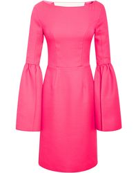 Honor Bell Sleeve Fitted Dress - Lyst