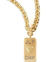 Heather Moore - Mini Initial-Tag Heart Charm - Lyst