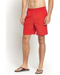 Gant Mens Contrast Stitch Swim Trunks - Lyst