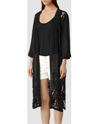 AllSaints Iree Kimono black - Lyst