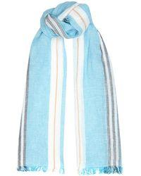 Harrods - Striped Linen-Cotton Scarf - Lyst