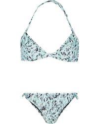 Proenza Schouler Printed Triangle Bikini - Lyst