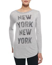 Haute Hippie New York Graphic Print Long Sleeve Tee - Lyst