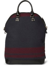 Burberry Prorsum Leather-trimmed Wool Bag - Lyst