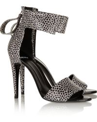 Pierre Hardy Printed Snake-effect Leather Sandals - Lyst