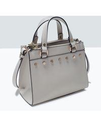 Zara Studded Mini Bag - Lyst