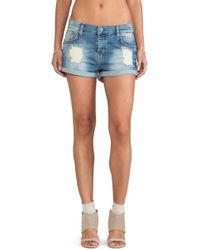 Anine Bing Denim Shorts - Lyst