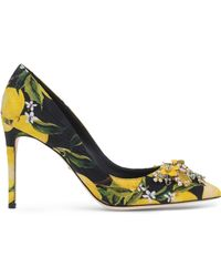 Dolce & Gabbana   Kate Floral-Print Pumps   Lyst