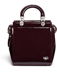 Givenchy Hdg Mini Patent Leather Bag - Lyst