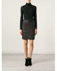Alexander Wang Woven Front Skirt - Lyst