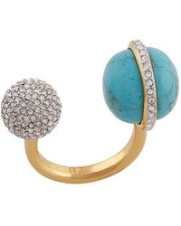 Rachel Zoe - 'kyra' Double Sphere Open Ring - Lyst