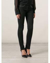 Versace Black Skinny Jeans - Lyst