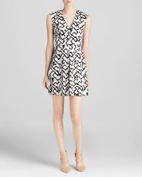 French Connection Dress - Downtown Grid Cotton - Lyst