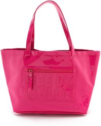 See By Chloé Large Tote Fuschia - Lyst