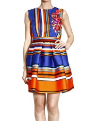 Alberta Ferretti Dresses Sleeveless Striped Flowers - Lyst