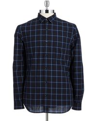 7 For All Mankind Plaid Sport Shirt - Lyst