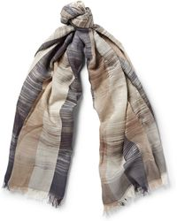 Missoni Striped Modal And Cotton-Blend Scarf - Lyst