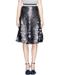 MSGM Sequin Paillettes Flare Skirt - Lyst