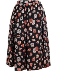 MSGM Lurex Lips Aline Skirt - Lyst